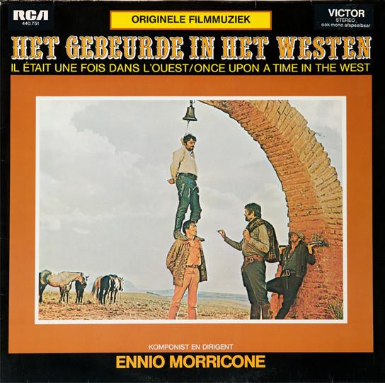 Filmmuziek van Het gebeurde in het Westen (Once upon a time in the West) van Ennio Morricone op vinyl.